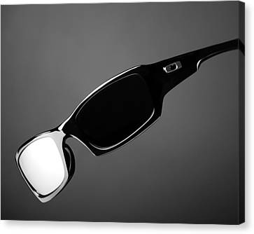 Black And White Sunglasses Canvas Print