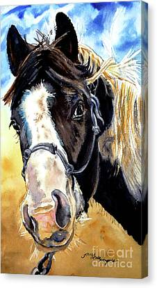 Black And White Canvas Print by Tracy Rose Moyers