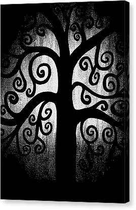 Black And White Tree Canvas Print by Angelina Vick