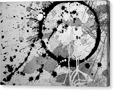 Black And White Two Canvas Print by Tracy Bonin