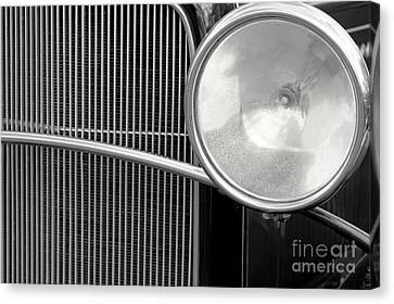 Black And White Vintage Car Abstract 1 - Natalie Kinnear Photogr Canvas Print