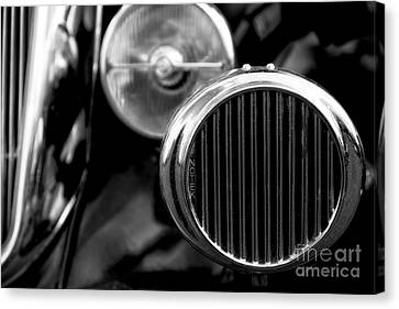 Black And White Vintage Car Abstract 2 - Natalie Kinnear Photogr Canvas Print