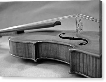 Black And White Violin Canvas Print by Gabe Knowls