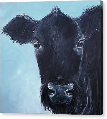 Black Angus Aggie Canvas Print by Karen King