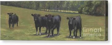 Black Angus Buddies Canvas Print by Terri  Meyer