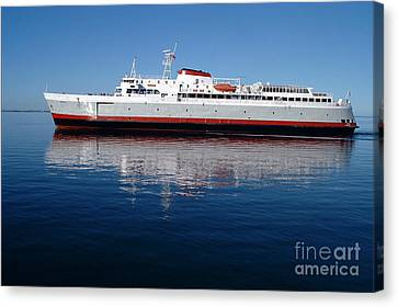 Canvas Print featuring the photograph Black Ball Ferry by Larry Keahey