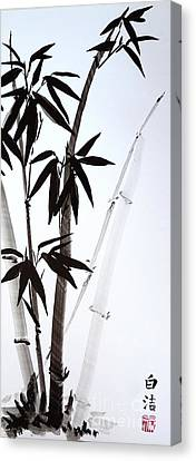 Black Bamboo - Ink Canvas Print by Birgit Moldenhauer