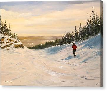 Canvas Print featuring the painting Black Bear by Ken Ahlering