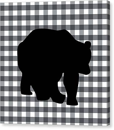 Black Bear Canvas Print by Linda Woods