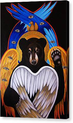 Black Bear Seraphim Canvas Print