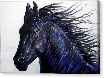 Black Beauty Canvas Print by J- J- Espinoza