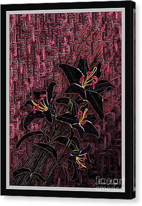 Abstract Digital Canvas Print - Black Beauty by Michael Mirijan