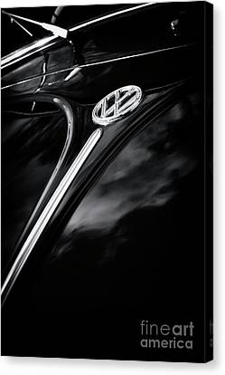 Black Beetle Abstract Canvas Print by Tim Gainey