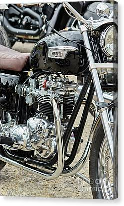 Canvas Print featuring the photograph Black Bonneville by Tim Gainey