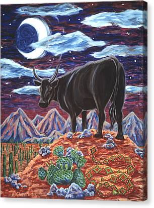 Diamondbacks Canvas Print - Black Bull by Karin Griffiths