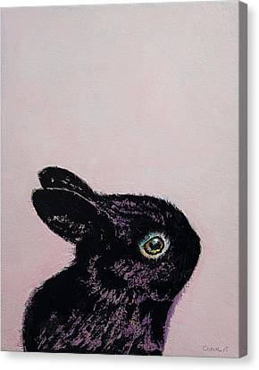 Black Bunny Canvas Print by Michael Creese
