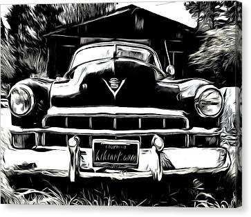 Black Cadillac Canvas Print