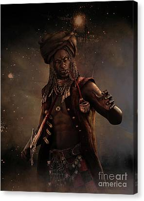 Black Caesar Pirate Canvas Print by Shanina Conway