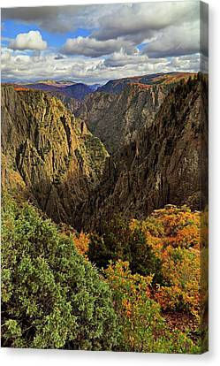 Canvas Print featuring the photograph Black Canyon Of The Gunnison - Colorful Colorado - Landscape by Jason Politte