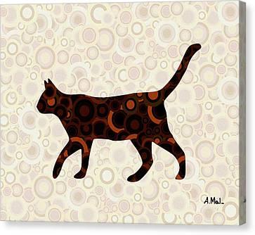 Black Cat - Animal Art Canvas Print by Anastasiya Malakhova