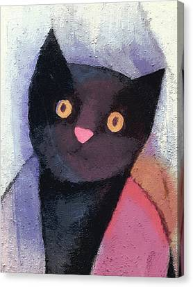 Black Cat Canvas Print by Lutz Baar