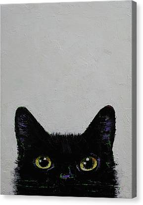 Black Cat Canvas Print by Michael Creese