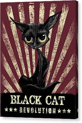 Canvas Print - Black Cat Revolution by John LaFree