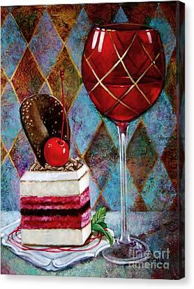 Black Cherry Tiramisu Canvas Print