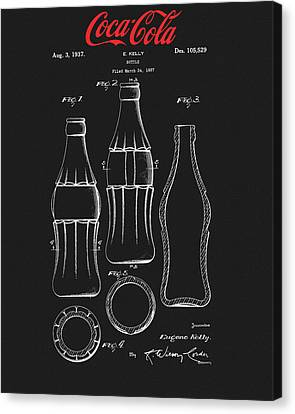 Black Coca Cola Bottle Patent Canvas Print