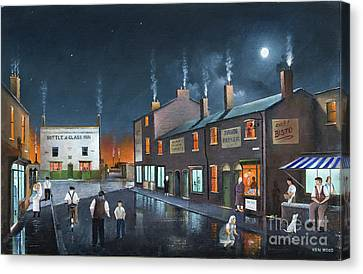 Black Country Friday Night Canvas Print