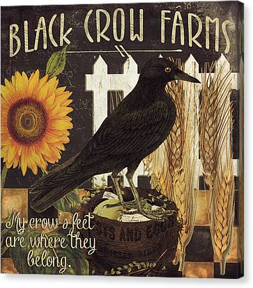 Black Crow Farms Canvas Print by Mindy Sommers