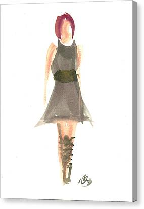 Black Dress Canvas Print by Carl Griffasi