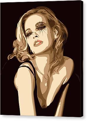Black Dress Canvas Print by Tanya Byrd