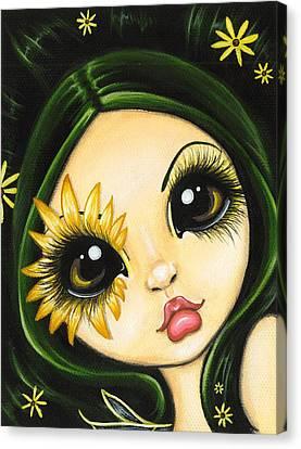 Black-eyed Susan Canvas Print by Elaina  Wagner