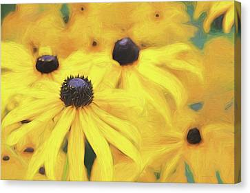 Canvas Print featuring the photograph Black-eyed Susan Flowers  by Jennie Marie Schell
