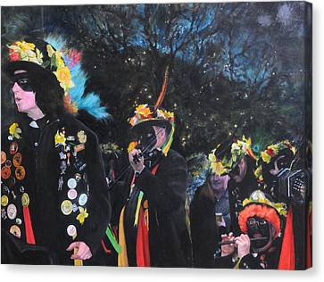 Black Face Mummers Canvas Print