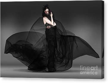 Black Fashion The Dark Movement In Motion Canvas Print