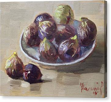 Black Figs Canvas Print by Ylli Haruni