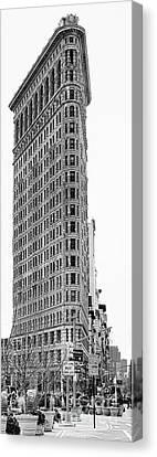 Black Flatiron Building II Canvas Print