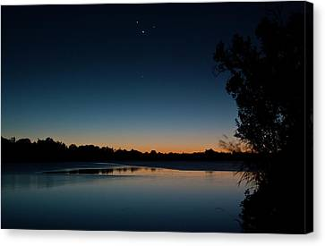 Canvas Print featuring the photograph Black Friday Conjunction by Odille Esmonde-Morgan