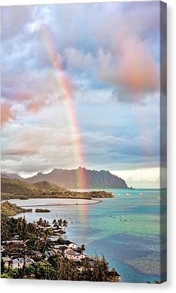 Black Friday Rainbow Canvas Print