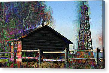 Black Gold In The Old West Canvas Print