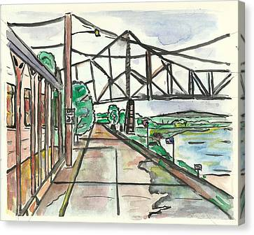 Black Hawk Bridge Canvas Print by Matt Gaudian