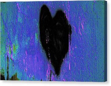 Black Heart Canvas Print by Marnie Patchett