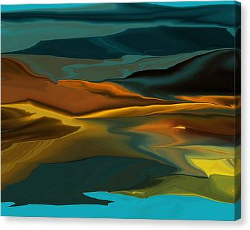 Black Hills Abstract Canvas Print by David Lane