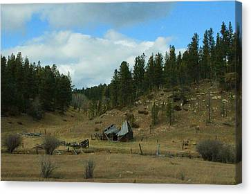 Black Hills Broken Down Cabin Canvas Print by Christopher Kirby