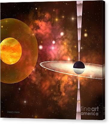 Black Hole Canvas Print by Corey Ford