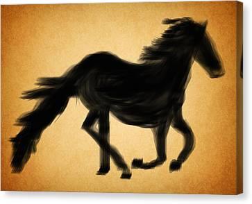 Black Horse Canvas Print by Art Spectrum