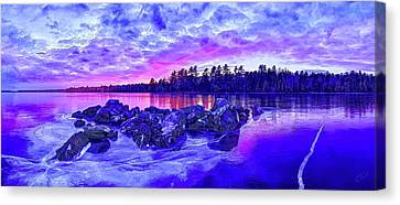 Abeautifulsky Canvas Print - Black Ice At Twilight by ABeautifulSky Photography by Bill Caldwell