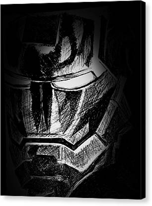 Black Iron  Canvas Print by Dave Rogers